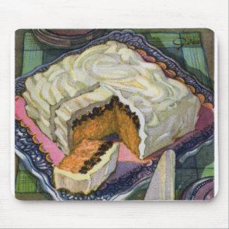 Rétro gâteau vintage de raisin sec d'épice de gâte tapis de souris