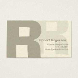 Rétro grand R à deux lettres élégant Cartes De Visite