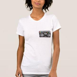 rétro graphique de sableuse de ghetto de boombox t-shirt