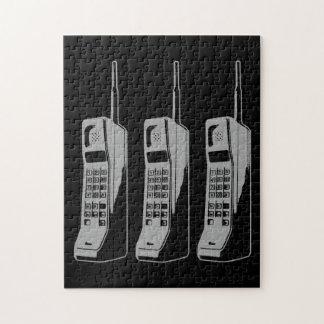 Rétro graphique de téléphone portable puzzle