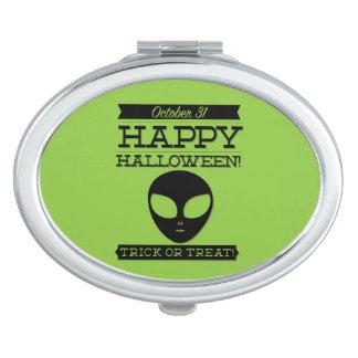 Rétro Halloween typographique Miroir Compact