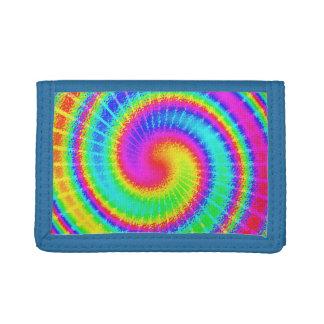 Rétro hippie de colorant de cravate psychédélique