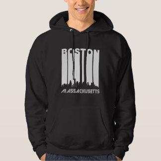 Rétro horizon de Boston Veste À Capuche