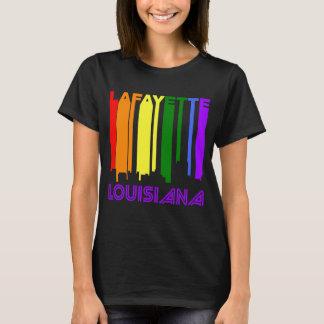 Rétro horizon de Lafayette Louisiane de style des T-shirt
