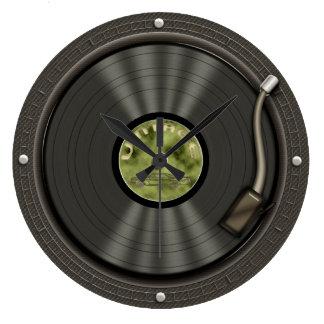 Rétro horloge murale de disque vinyle