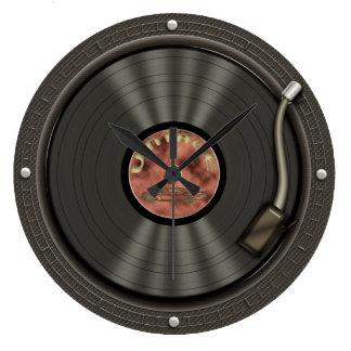 Rétro horloge murale de musique de disque vinyle