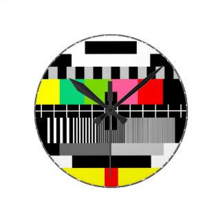 Rétro horloge murale de télévision