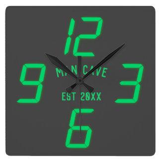 Rétro horloge murale faite sur commande drôle de