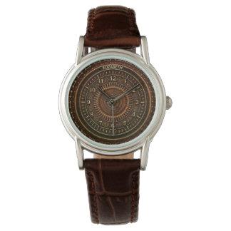 Rétro horloge rouillée antique d'art déco de montres bracelet