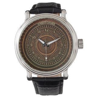 Rétro horloge rouillée antique d'art déco de montres cadran