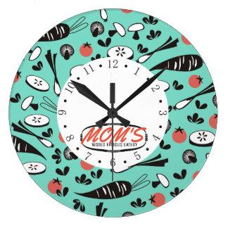 rétro horloge végétale de cuisine de cuisine de