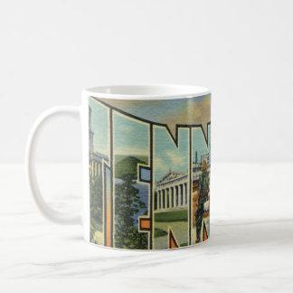 Rétro illustration colorée du Tennessee Mug