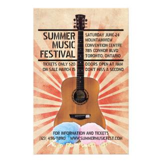 Rétro insecte de festival de musique prospectus 14 cm x 21,6 cm