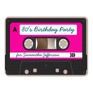 Rétro invitation de fête d'anniversaire