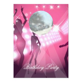 Rétro invitation de fête d'anniversaire de disco carton d'invitation  16,51 cm x 22,22 cm