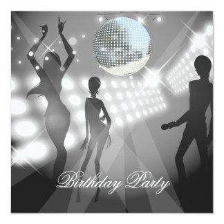 Rétro invitation de fête d'anniversaire de disco carton d'invitation  13,33 cm