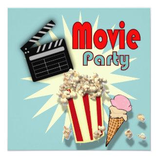 Rétro invitation de fête d'anniversaire de film de
