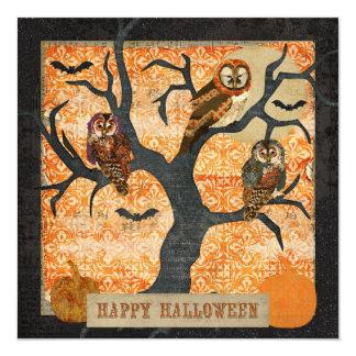 Rétro invitation de Halloween de couche-tard Carton D'invitation 13,33 Cm