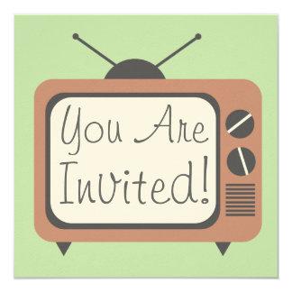 Rétro invitation de téléviseur