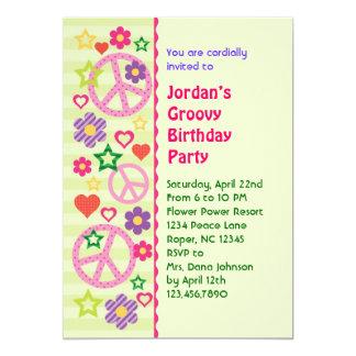 Rétro invitation super de fête d'anniversaire