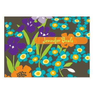 Rétro iris japonais cartes de visite personnelles