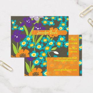 Rétro iris japonais cartes de visite