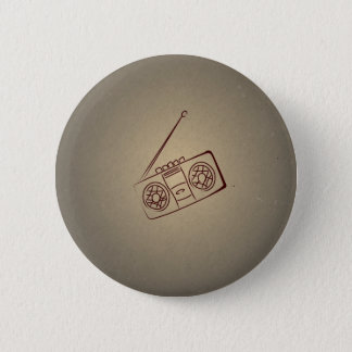 Rétro joueur vintage de cassette audio. Papier Badges