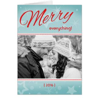 Rétro joyeux tout a plié la carte de Noël