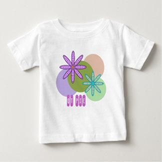 Rétro kaléidoscope floral et points 1 T-shirt de