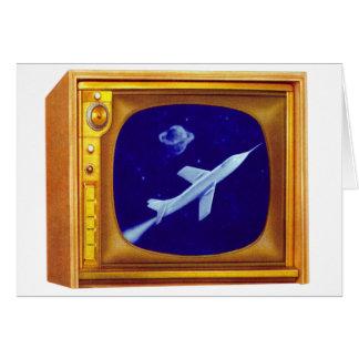 Rétro kitsch vintage de poste TV de couleur de les Carte De Vœux