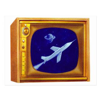 Rétro kitsch vintage de poste TV de couleur de les Carte Postale