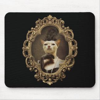 Rétro Kitty royal a encadré le portrait Mousepad Tapis De Souris