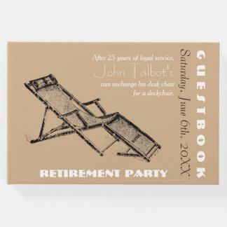 Rétro livre d'invité de partie de retraite de la