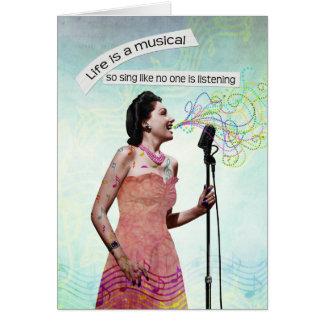 Rétro Madame Life Is A Musical chantent le carte