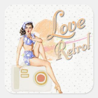 Rétro Madame vintage Stickers