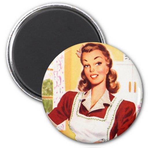 R tro magie vintage de cuisine de les ann es 50 de magnets for Cuisine retro annee 50