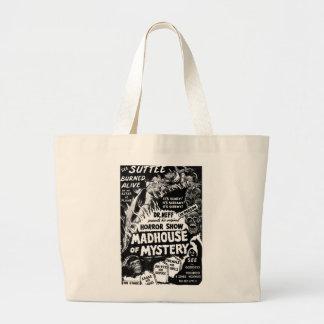 Rétro maison de fous vintage de monstres de kitsch grand sac