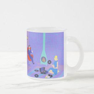 Rétro même à la maison la tasse en verre givré