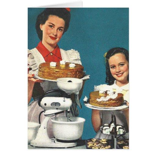 R tro m nag re vintage de livre de cuisine de les cartes for Femme au foyer 1950