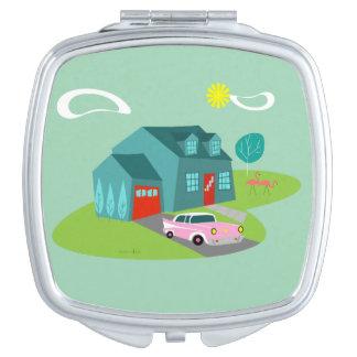 Rétro miroir suburbain de contrat de Chambre Miroirs Compacts