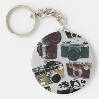 Rétro mode grunge vintage d'appareils-photo porte-clefs