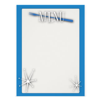 Rétro modèle de menu de blanc de style prospectus 21,6 cm x 24,94 cm