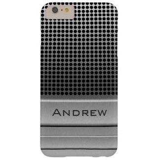 Rétro modèle de nom de microphone coque barely there iPhone 6 plus