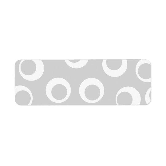 Rétro modèle gris-clair et blanc étiquette d'adresse retour
