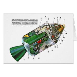 Rétro module vintage de l'espace de Sci fi Apollo Carte De Vœux