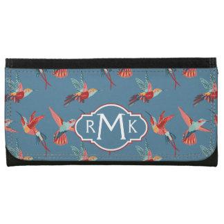 Rétro monogramme du motif | de colibri