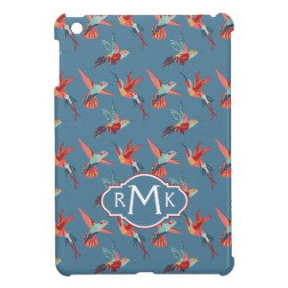Rétro monogramme du motif | de colibri coques iPad mini