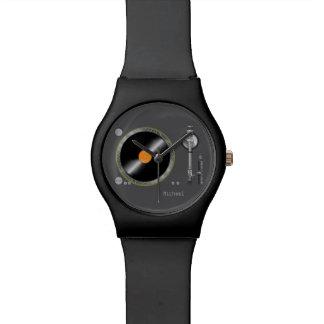Rétro montre d'enregistreur de vinyle de plaque to montres bracelet
