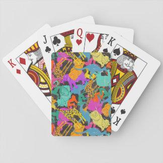Rétro motif animal de silhouettes cartes à jouer