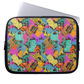 Rétro motif animal de silhouettes housses ordinateur portable